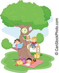 niños, treehouse