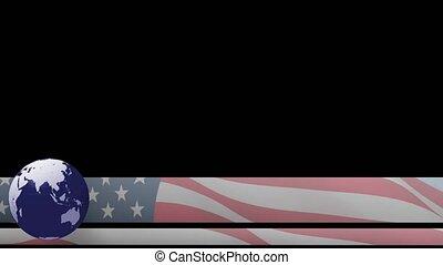niższy, usa, 3rd, trzeci, kula, na bandera, świat, chyron,...