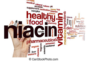 Niacin word cloud concept