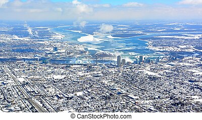 Niagara Falls aerial, Winter