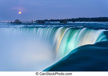 Niagara Falls at Dusk - Dusk at Niagara Falls