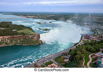 Niagara Falls, Canada - This is an elevated view of Niagara...