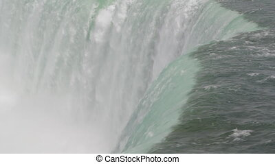 Niagara Falls. Green water.