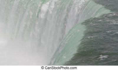 Niagara Falls. Green water.
