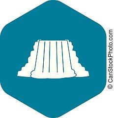 Niagara Falls icon, simple style