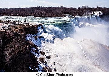 Niagara Falls in winter.