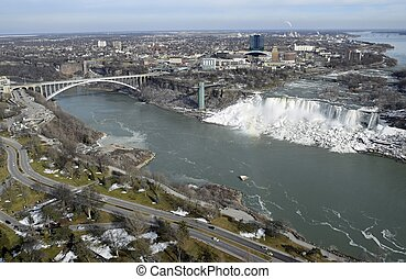 Niagara Falls New York aerial
