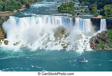 Niagara Falls panorama - Niagara Falls closeup panorama in ...