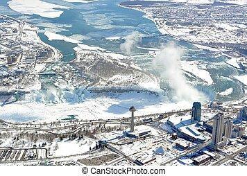 Niagara Falls Winter, aerial