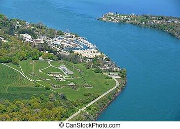 Niagara Lake Forts, aerial