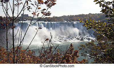 Niagara Falls - Niagara River and Niagara Falls