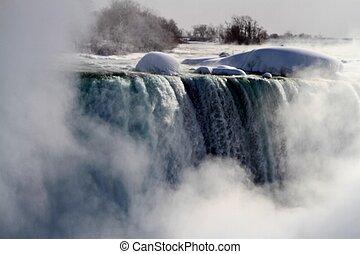 niagara, vinter, nedgångar