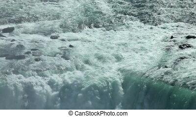 Niagara Waterfall closeup tilt down - Canadian horseshoe...