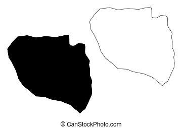 Niamey Region map vector - Niamey Region (Regions of Niger,...