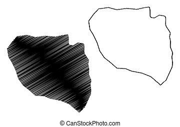 Niamey Region (Regions of Niger, Republic of the Niger) map...