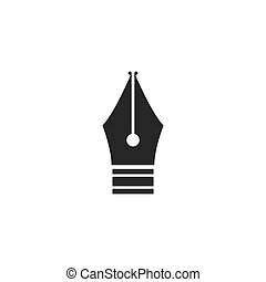 Nib icon illustration vector design