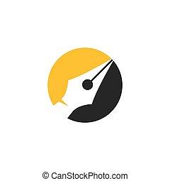 Nib icon vector flat design