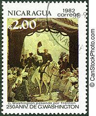 NICARAGUA - CIRCA 1982: A stamp printed in Nicaragua shows ...