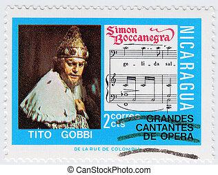 NICARAGUA - CIRCA 2008 : stamp printed in Nicaragua shows...