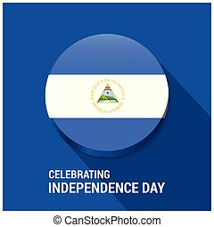 Nicaragua Flag 3d button