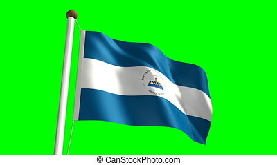 Nicaragua flag (with green screen)