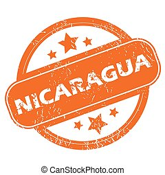 Nicaragua orange grunge rubber stamp on a white background. Vector illustration
