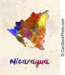 Nicaragua in watercolor