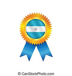 Nicaragua medal flag