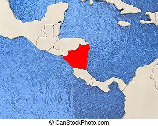 Map esteli nicaragua 3dillustration Map of esteli a