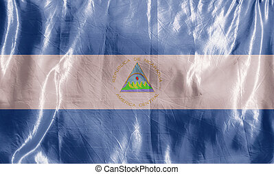 Nicaragua - State flag fluttering in the wind. Colored ...