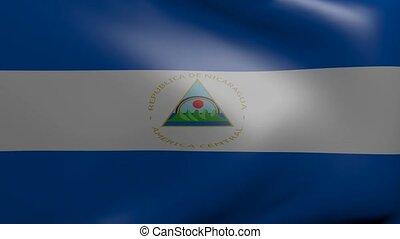 nicaragua strong wind flag