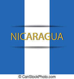 Nicaragua text on special background allusive to the flag