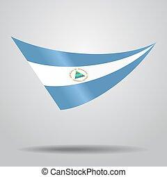 Nicaraguan flag background. Vector illustration. -...