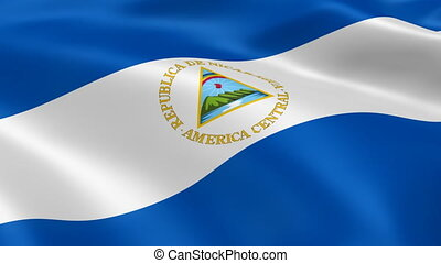 Nicaraguan flag in the wind