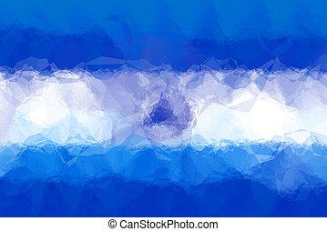Nicaraguan flag - triangular polygonal pattern