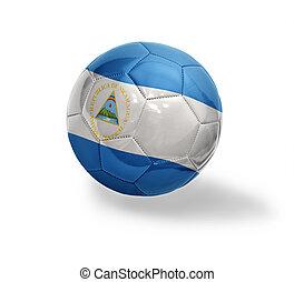 Nicaraguan Football - Football ball with the national flag...