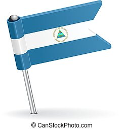 Nicaraguan pin icon flag. Vector illustration Eps 8.