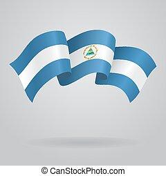 Nicaraguan waving Flag. Vector illustration