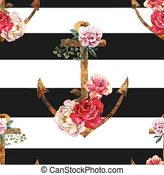 Nice anchor pattern - Beautiful vector pattern with nice...