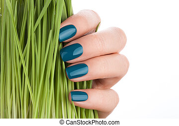Nice and neat green nails. - Beautiful and neat nails green ...