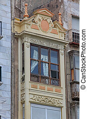 Nice balcony in an old building