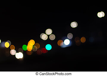 Nice bokeh of lights in the city