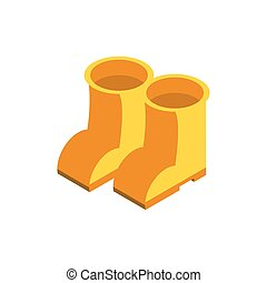 nice boots on white background