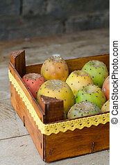 Nice box full of prickly pears.