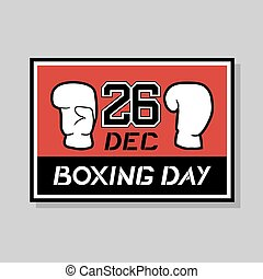 nice Boxing day card - Creative design of nice Boxing day...
