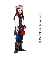 Nice boy dressed as pirate