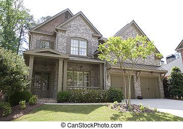 Nice Brick House on White