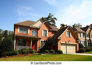 Nice Brick House with Red Door