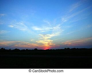 sky after sunset