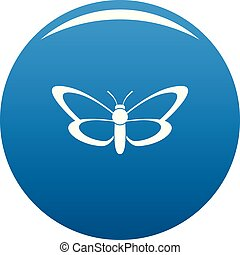 Nice butterfly icon blue vector